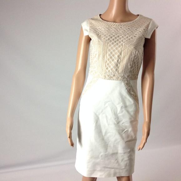 93e34584df5 ANTONIO MELANI Dresses   Skirts - Antonio Melani Women s Dress Size 2 Tan  White